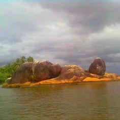 Malavana Rock Island in the Periyar River