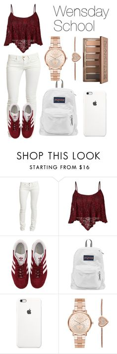 """""""Wednesday School"""" by casualbandgirl ❤ liked on Polyvore featuring Replay, adidas, JanSport, Michael Kors, Urban Decay, school, teen, copycat and causual"""