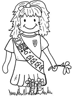 Girl Scout uniforms paper doll set-great coloring page for