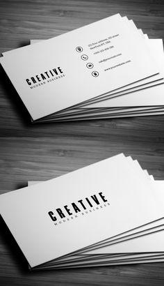 Minimal Business Card Businesscards Businesscardesign Printready Psdtemplates Moderne Visitenkarten Grafik Design