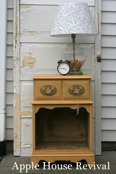 G'morning Sunshine - A Nightstand and a Lamp - Apple House Revival
