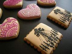The purple heart-shaped cookies are really cool. OK, they all are.