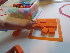 Good activity for building children's understanding of shape, space, color, and numeracy