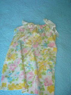pillow case dress from vintage pillow case,,,