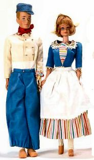 "Produced only in 1964-includes  Vintage Barbie In Holland (1964)    Blouse  Skirt  Apron  Hat  ""Wooden"" Shoes  Long White Stockings  Travel Pamphlet    Vintage Ken in Holland  (1964)    White Shirt  Blue Pants  Blue Felt Cap  Red Scarf  White Knee Socks  ""Wooden"" Shoes  Bouquet of Tulips  Travel Pamphlet"