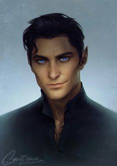 I could keep tweaking this until the cows come home - but I'm calling my Rhys portrait done! Rhys, High Lord of The Night Court from S. Maas 'A Court of Thorns and Roses' & 'A Court of Mist . A Court Of Wings And Ruin, A Court Of Mist And Fury, Fantasy Characters, Character Portraits, Character Art, Charlie Bowater, Feyre And Rhysand, Fanart, Character Design