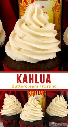 Kahlua Buttercream Frosting sweet creamy and delicious homemade buttercream frosting with just the hint of Kahlua flavor Mmmm mmmm good This is a boozy buttercream tha. Homemade Buttercream Frosting, How To Make Frosting, Icing Frosting, Frosting Recipes, Cupcake Recipes, Dessert Recipes, Fondant Recipes, Fondant Tips, Gourmet Cupcakes