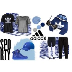 Futuristic Sport by gxldiie on Polyvore featuring adidas, River Island, Moschino, Chanel, Burberry, modern, monochrome, Blue, blackandwhite and sporty