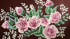 """Acrylic Painting- One Stroke Technique Rose Composition on 70""""*50"""""""