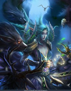 Night Elven druid -- Artist name is on bottom of pic...I think it's Russian...think....