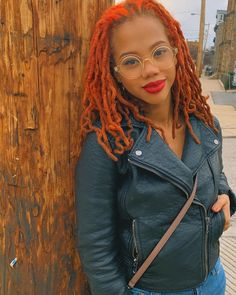 Loc Extensions, Hair Color, Dreadlocks, Leather Jacket, Glasses, My Love, Hair Styles, People, Jackets