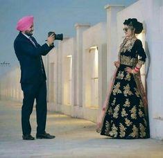 Punjabi Wedding Couple, Punjabi Couple, Wedding Couples, Wedding Bride, Cute Couples, Sikh Bride, Punjabi Bride, Indian Wedding Photography Poses, Couple Photography