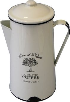 #Emaille  #Krug Kettle, Kitchen Appliances, Coffee, Deco, Enamels, Diy Kitchen Appliances, Kaffee, Teapot, Home Appliances