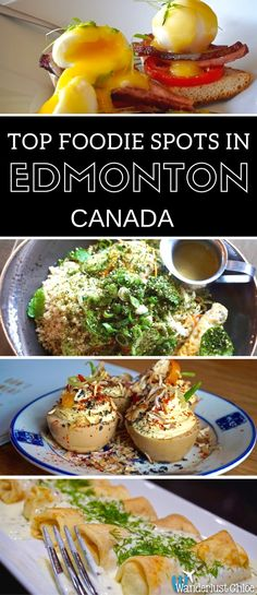 Top Foodie Spots In Edmonton, Canada. Find out the best restaurants, bars and cafes to eat at in the foodie city of Edmonton in Alberta, Canada. https://www.wanderlustchloe.com/best-food-edmonton-canada/