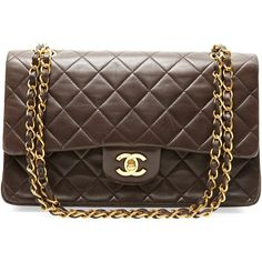 Vintage Chanel by THEBROWNPAPERBAG.NET ($3,495) ❤ liked on Polyvore featuring bags, handbags, purses, bolsas, chanel, dark brown, cocktail purse, evening handbags, dark brown handbags and brown handbags