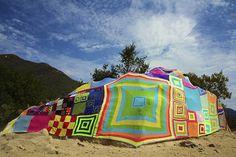Colorful Yarn Bombing