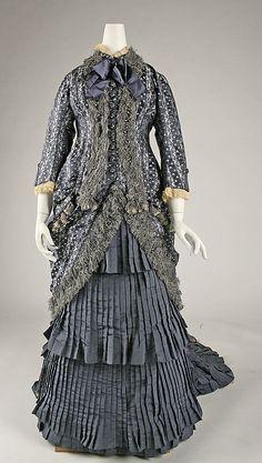 Dress Date: ca. 1880 Culture: French Medium: silk Accession Number: 43.72.2a–c Metropolitan Museum of Art