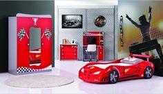 Die 11 besten Bilder von Kinderzimmer Autobett | Autos, Desk und ...