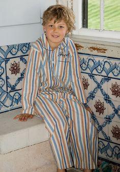 Personalised Kids Pyjamas Toto Stripe Cotton