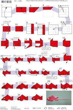 鯛の箸袋の折り方作り方 おとなのおりがみ畑