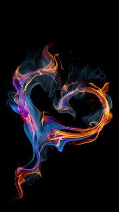 Fire and Ice Heart Wallpaper, Love Wallpaper, Galaxy Wallpaper, Wallpaper Backgrounds, Iphone Backgrounds, Fantasy Kunst, Dark Fantasy Art, Coeur Gif, Flame Art
