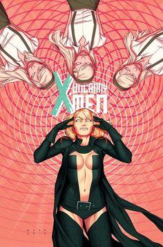The Stepford Cuckoos and Emma Frost uncanny X-men by Kris Anka