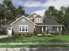Craftsman House Plan with 2233 Square Feet and 4 Bedrooms(s) from Dream Home Source | House Plan Code DHSW67009