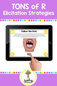 How to elicit and teach the R sound in articulation speech therapy - activities, visuals, and videos. #voocalicr #slpsgodigital #distancelearningtpt #slp #tpt #articulationtherapy Speech Language Therapy, Speech Language Pathology, Speech And Language, Articulation Therapy, Speech Therapy Activities, Apraxia, School Lessons, Therapy Ideas, Disorders
