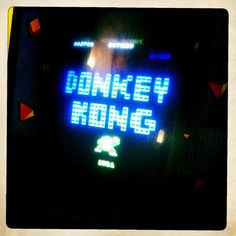 Donkey Kong arcade game /by The Shaun Woods #flickr #retro #arcade #hipstamatic