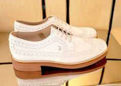Tod's Lisbon #shoes #footwear Smart Casual Elegance White Brogues