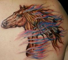 tattoos of horses for women | War horse tattoos designs | Like Tattoo