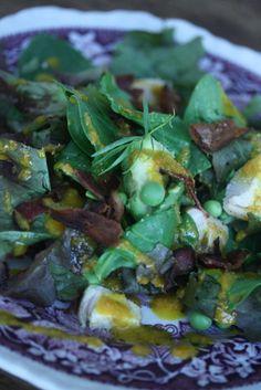 Small Kitchen Cobb Salad with Carrot-Tarragon Vinaigrette