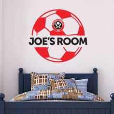 Official Licensed Football & Entertainment Wall Stickers - Blackburn Rovers Bedroom Football Gifts - The Beautiful Game Sheffield United Football, Mural Wall, Wall Art, Football Bedroom, Bedroom Furniture, Bedroom Decor, Blackburn Rovers, Entertainment Wall, Football Stickers