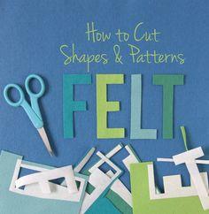 Benzie: A fanfare of felt.: How to cut felt