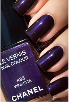 Chanel Nail Paints are not easy to afford. So, here we have chosen the 10 best Chanel Nail Polish colors and have attached images for your reference. Chanel Nail Polish, Chanel Nails, Chanel Makeup, Purple Nails, Nude Nails, Fabulous Nails, Gorgeous Nails, Pretty Nails, Chanel 2018