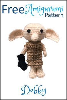 Dobby is finally free! Lots of other Amigu… Free Dobby Amigurumi crochet pattern. Dobby is finally free! Lots of other Amigurumi patterns too – including all Dobby's Harry Potter pals Free Dobby the House Elf Amigurumi Pattern patterns afghan pattern Dobby Harry Potter, Harry Potter Crochet, Harry Potter Free, Harry Potter Scarf Pattern, First Harry Potter Movie, Harry Potter Dolls, Crochet Gratis, Crochet Amigurumi Free Patterns, Crochet Dolls