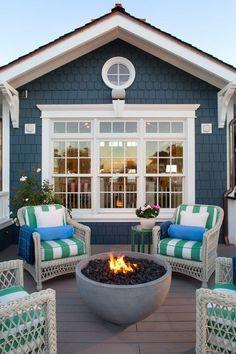 Coastal Style Deck #hamptonscoastalstyle #coastalstyleexterior