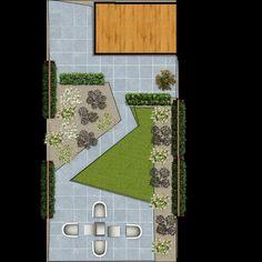 Tuinontwerp kleine tuin - design small garden
