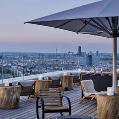 Andaz Vienna Am Belvedere - Hotels, Rooftop Terrace, Outdoor Furniture Sets, Outdoor Decor, Pent House, Sun Lounger, Architecture Design, Pergola, Patio