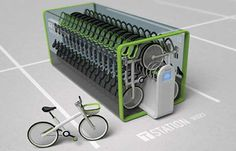 Close-Packed Bicycle Storage - T-Bike by Jung Tak Proposes an Efficient System for Renting Pushbikes (GALLERY) Bicycle Storage, Bicycle Rack, Le Parking, Parking Space, Indoor Bike Rack, Range Velo, Innovation, Parking Design, Garage