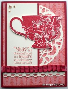 """Stay is a charming word in a friend's vocabulary."" --Louisa May Alcott"