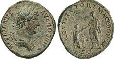 NumisBids: Numismatica Varesi s.a.s. Auction 65, Lot 194 : ADRIANO (117-138) Asse. D/ Busto laureato e drappeggiato R/...