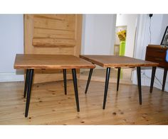Sofabord, Håndlavet, egetræ