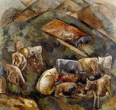 Museu Lasar Segall - Gado na montanha, 1939 óleo com areia sobre tela