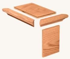 Carolina Stair Supply False End Tread Cap No Miter False End Tread Cap  Without Miter Red Oak | Woods Hole, Wood Types And Woods