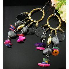Boucles d'oreilles perles et pampilles - boucles d'oreilles fantaisie - Laure.L*Bijoux