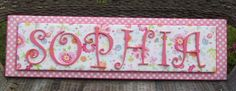 Pottery Barn Garden Party Nursery Letters,Nursery Letters, Name Plaque, Wall Letters,Nursery Letters, Painted Letters, Wood Letters,. $85.00, via Etsy.