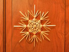 Traditional German Straw Star or Snowflake Decoration:  Natural color  (5.75 in)  item 5-3001. $14.00, via Etsy.