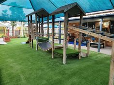 40mm unique synthetic grass, EVA foam underlay with 1.2 meter critical fall height. Installed Cuddlepie Early Learning Center, Wingham.  #syntheticgrass #artificialgrass #transformation #garden #landscape #artificialturf #green #grass #astroturf #turf #fakegrass #floorscapecreations Fake Grass, Green Grass, Learning Centers, Early Learning, Astroturf, Artificial Turf, Commercial Flooring, Wet And Dry, Newcastle