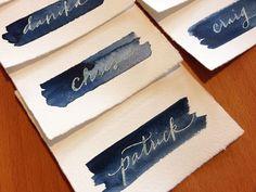resistance calligraphy & indigo watercolor